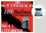 Chumbinho Stinger 4,5mm 100un - Match