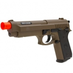 Pistola Airsoft PT-92 Tan Slide em Metal - Taurus